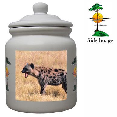 Hyena Ceramic Color Cookie Jar
