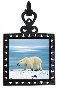 Polar Bear Iron Trivet