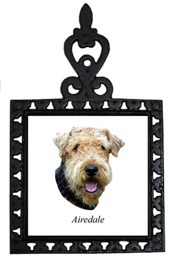 Airedale Iron Trivet