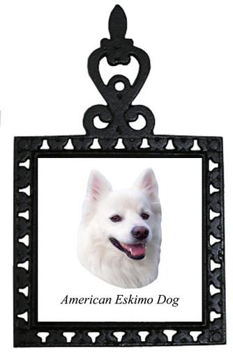 American Eskimo Dog Iron Trivet