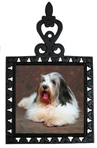 Bearded Collie Iron Trivet