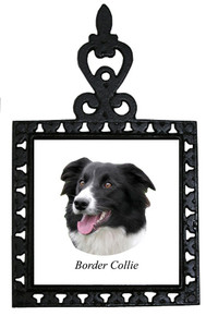 Border Collie Iron Trivet