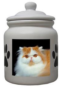 Persian Cat Ceramic Color Cookie Jar