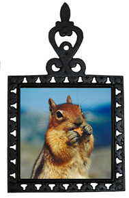 Chipmunk Iron Trivet