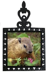 Groundhog Iron Trivet