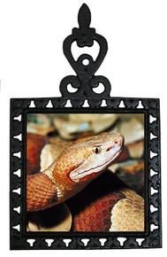 Copperhead Snake Iron Trivet