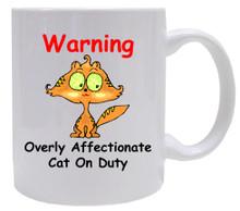 Affectionate Cat On Duty: Mug