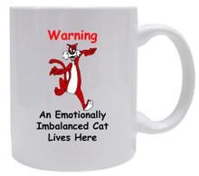 Emotionally Imbalanced Cat: Mug