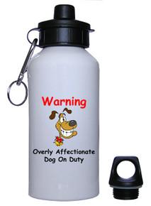 Affectionate Dog On Duty: Water Bottle