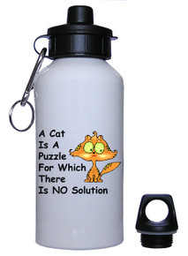 Cat Is A Puzzle: Water Bottle