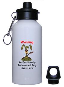 Emotionally Imbalanced Dog: Water Bottle