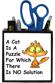 Cat Is A Puzzle: Pencil Holder
