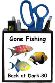 Gone Fishing: Pencil Holder