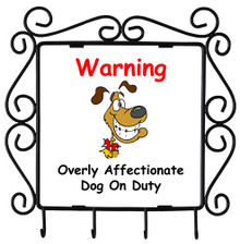 Affectionate Dog On Duty: Metal Key Holder