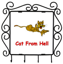 Cat From Hell: Metal Key Holder
