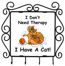 I Don't Need Therapy Cat: Metal Key Holder