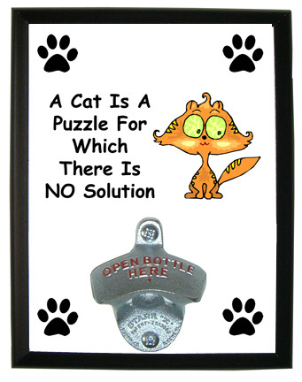 Cat Is A Puzzle: Bottle Opener