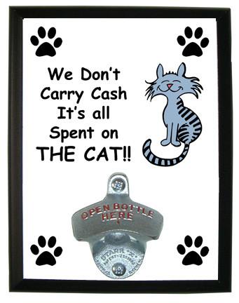 Cash Spent On The Cat: Bottle Opener