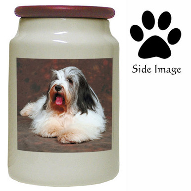Bearded Collie Canister Jar