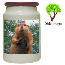 Beaver Canister Jar
