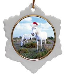 Camargue Jolly Santa Snowflake Christmas Ornament