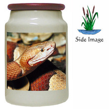 Copperhead Snake Canister Jar