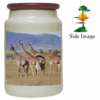 Giraffe Canister Jar