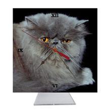 Persian Cat Desk Clock