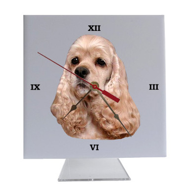 Cocker Spaniel Desk Clock