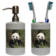 Panda Bear Bathroom Set