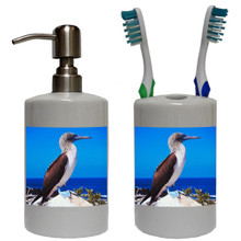 Blue Footed Booby Bathroom Set