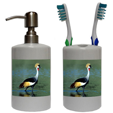 Crowned Crane Bathroom Set