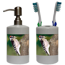 Downey Woodpecker Bathroom Set
