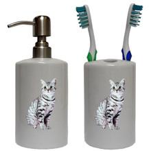 American Shorthair Cat Bathroom Set
