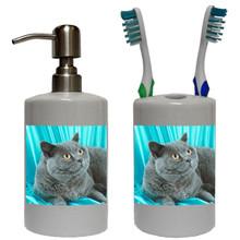 British Shorthair Cat Bathroom Set