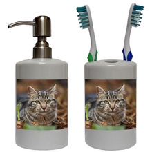 Tabby Cat Bathroom Set
