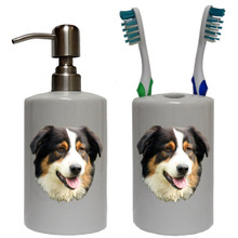 Australian Shepherd Bathroom Set