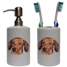 Dachshund Bathroom Set