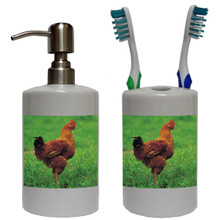 Chicken Bathroom Set