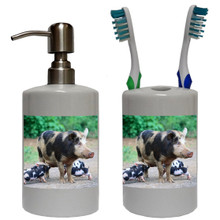 Pig Bathroom Set