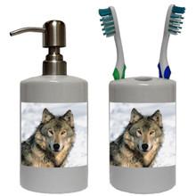 Wolf Bathroom Set