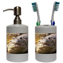 Alligator Bathroom Set