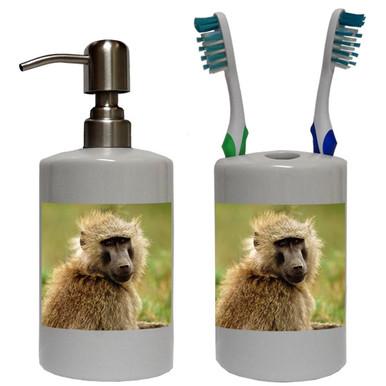 Baboon Bathroom Set