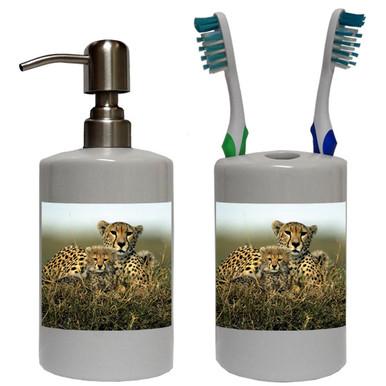 Cheetah Bathroom Set