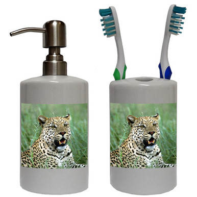 Leopard Bathroom Set
