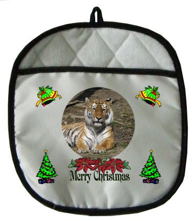 Tiger Christmas Pot Holder