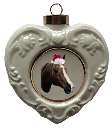 Horse Heart Christmas Ornament