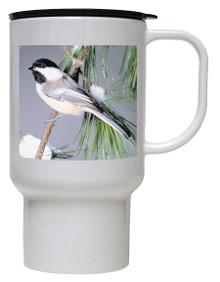 Chickadee Polymer Plastic Travel Mug