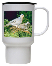 Dove Polymer Plastic Travel Mug