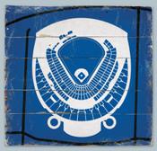 Kaufman Stadium Print on Reclaimed Wood